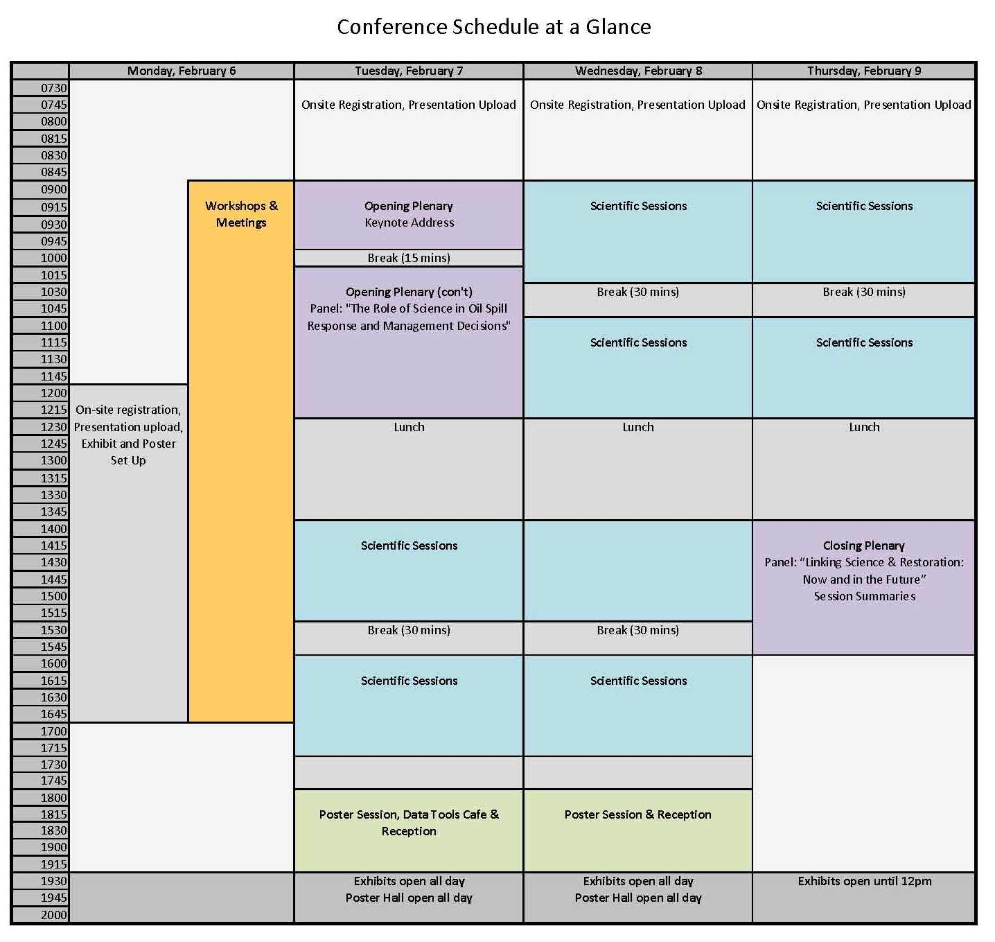 FINAL conference schedule Jan 23