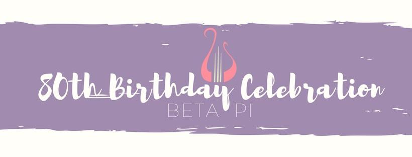 Alpha Chi Omega Beta Pi 80th Anniversary