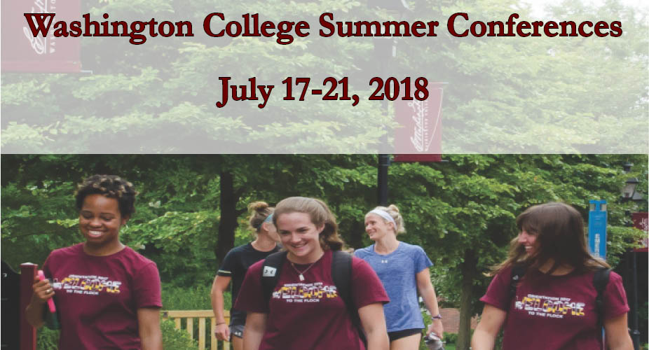 Washington College 2018 Summer Conferences