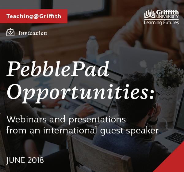 PebblePad opportunities in June 2018