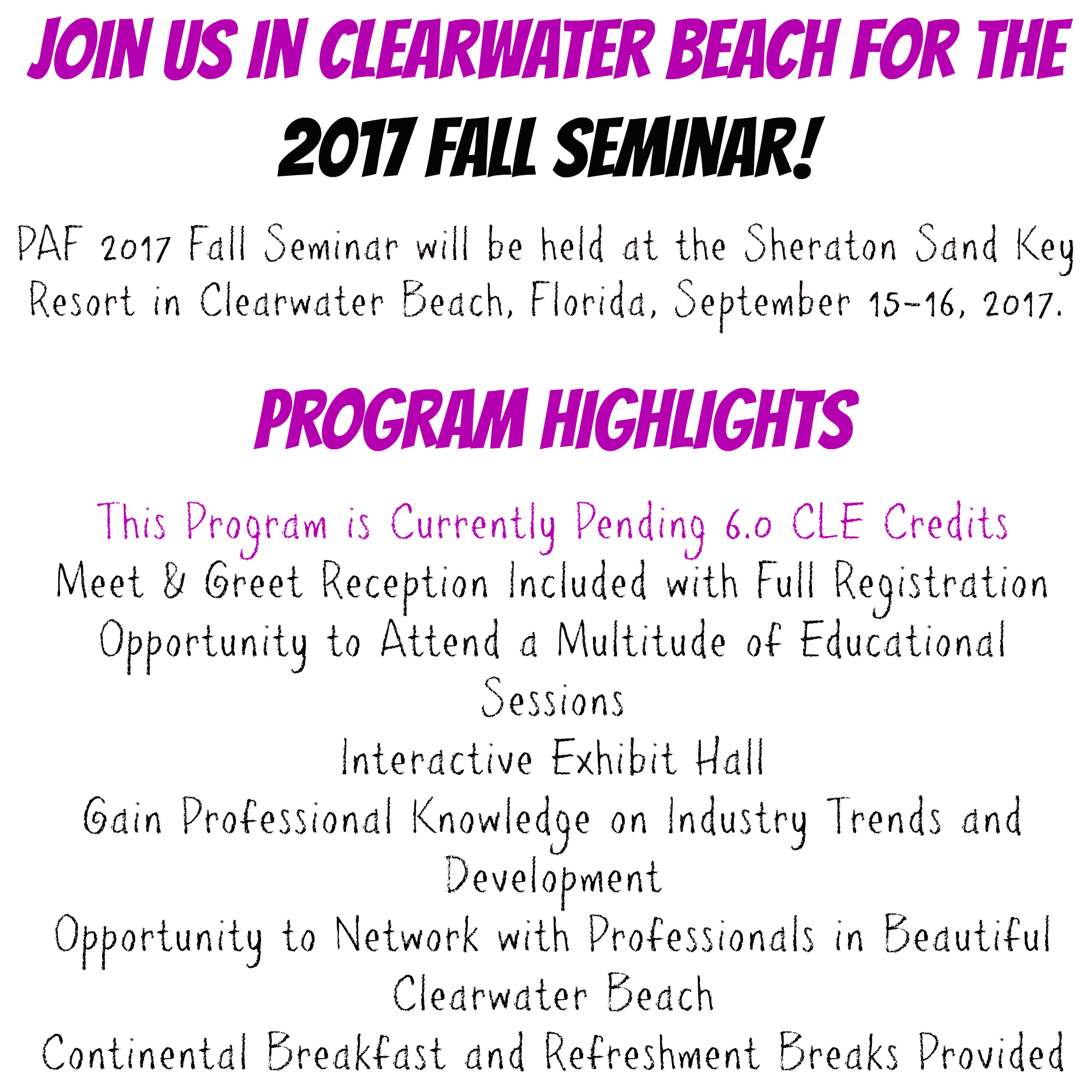 PAF Fall Summary Info Updated