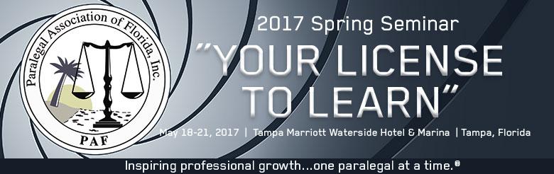 PAF 2017 Spring Seminar
