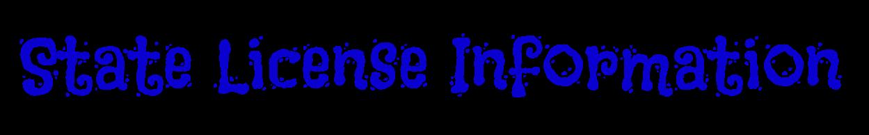 FLASHA State License Information