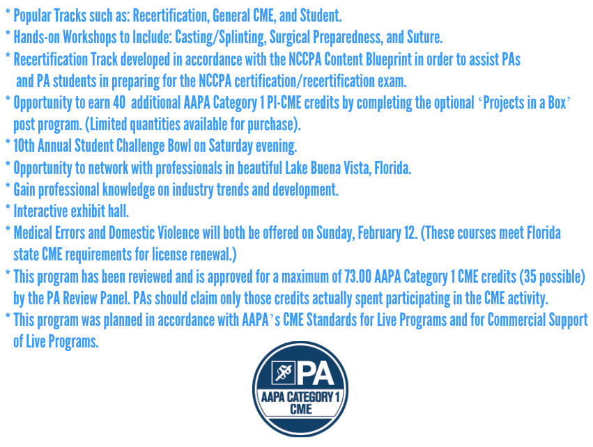 FAPA Program Highlights.