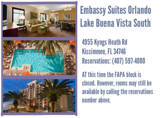 Updated FAPA 2019 Winter Hotel Info