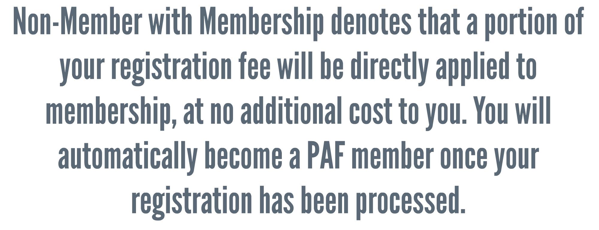 Membership Rate Info