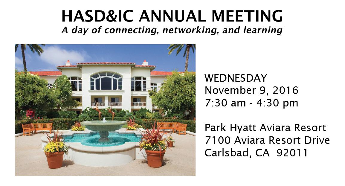 HASD&IC Annual Meeting 2016