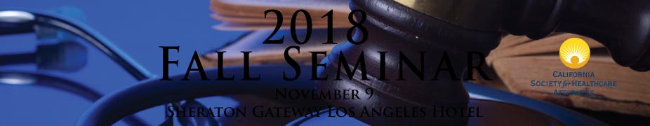 2018 CSHA Fall Seminar