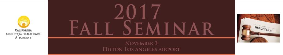 2017 CSHA Fall Seminar