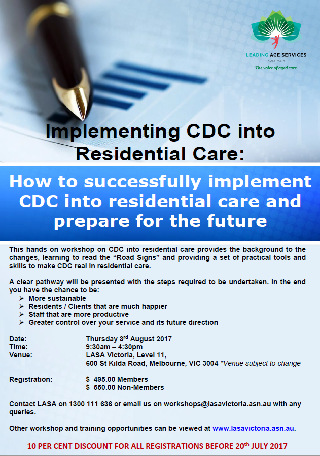 20170803_Implementing CDC into Resi Care