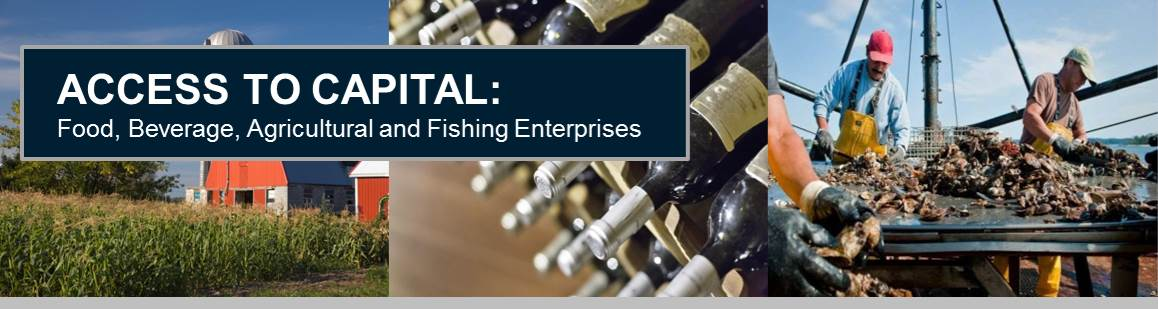 Access to Capital: Food, Beverage, Agricultural and Fishing Enterprises