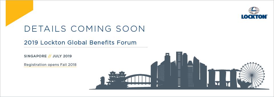 2018 Lockton Global Benefits Forum - Hong Kong