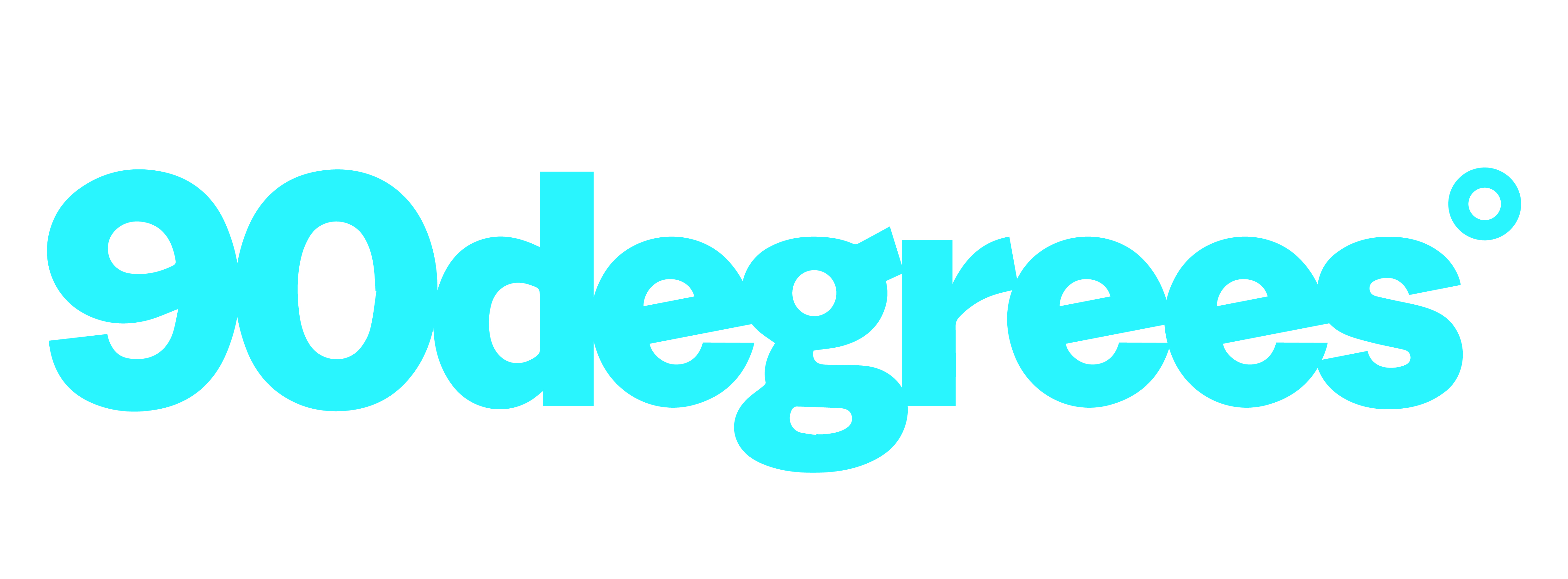 90 degrees logo