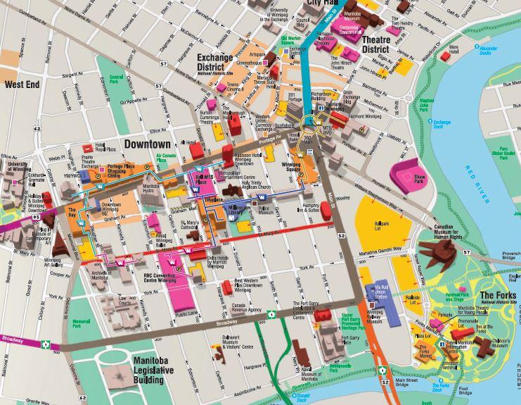 Winnipeg Downtown Map