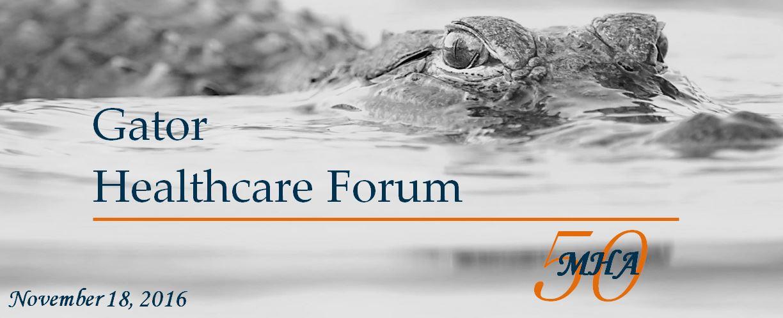Gator Healthcare Forum 2016