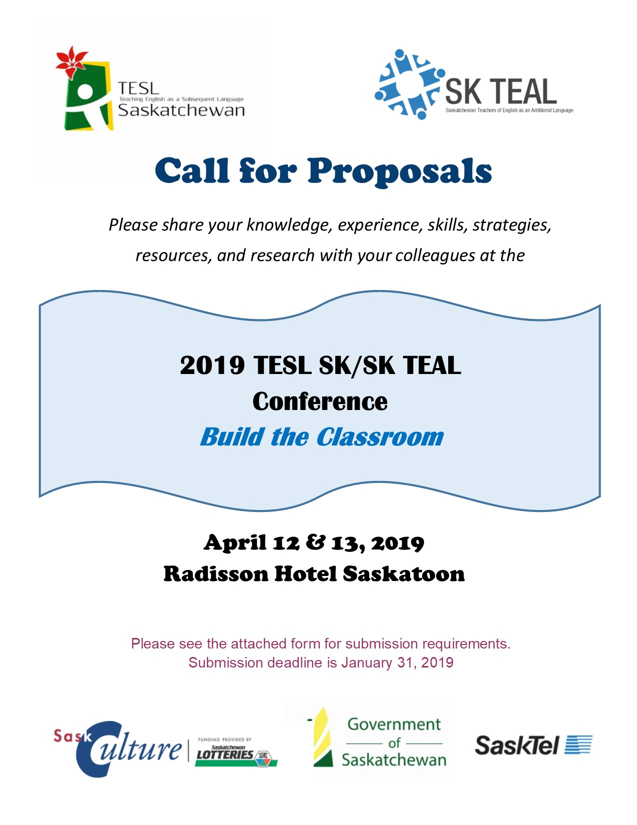 2019 Call for Proposals