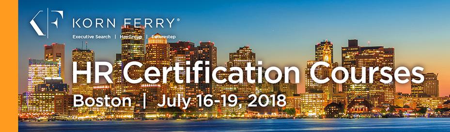 Korn Ferry Certifications - July 2018 | Boston, MA