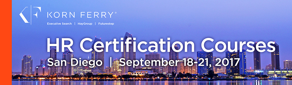 Korn Ferry Certifications - September 2017 | San Diego, CA