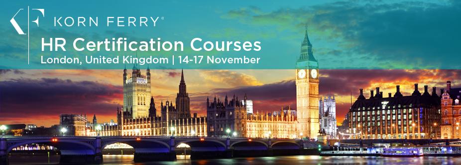 Korn Ferry Certifications - 14-17 November | London, UK