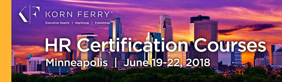 Korn Ferry Certifications - June 2018 | Minneapolis, MN
