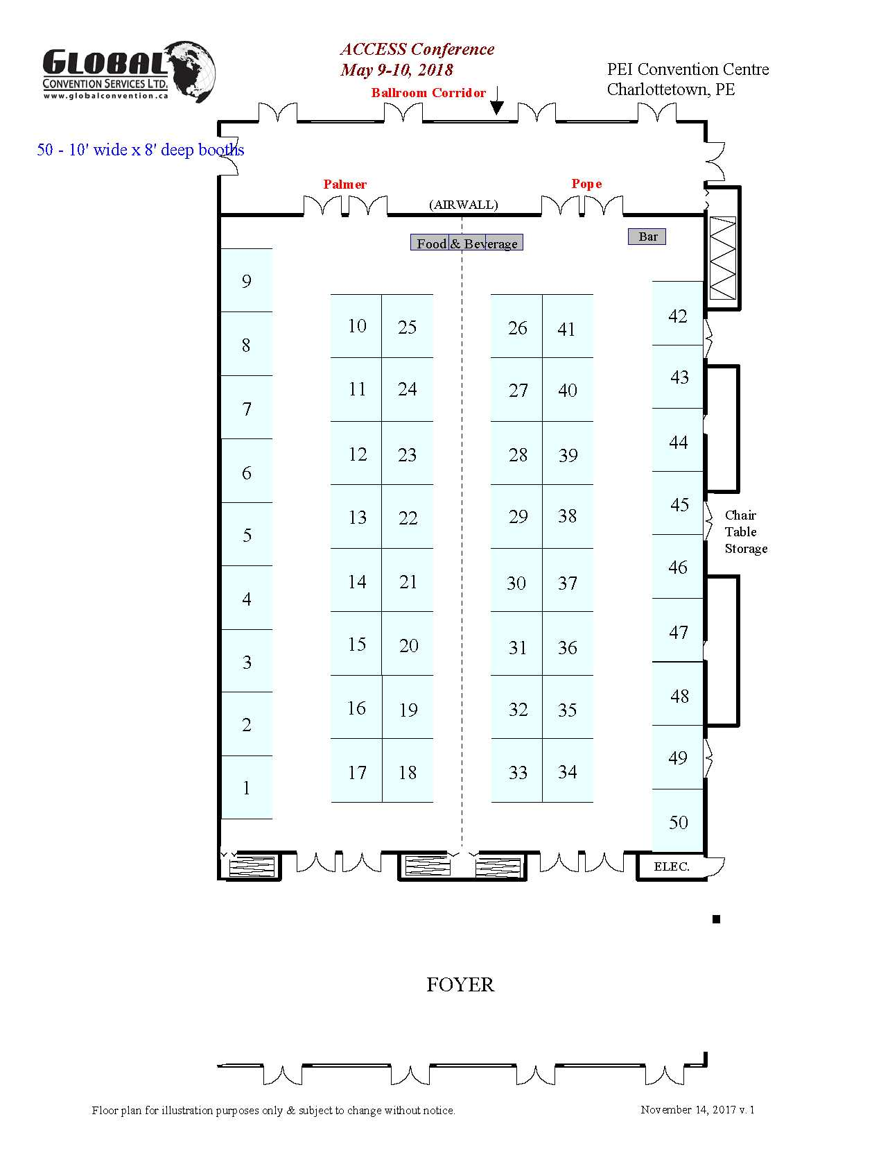 Floor plan v1- ACCESS 2018