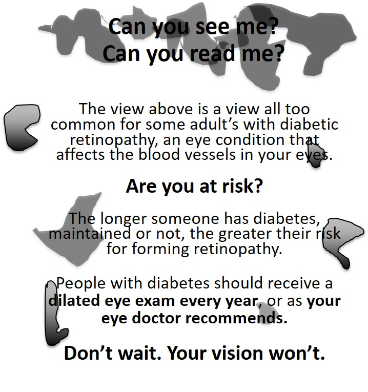 Diabetic Retinopathy Can You See Me