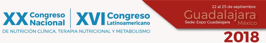 XVI CONGRESO LATINOAMERICANO DE NUTRICIÓN CLÍNICA, TERAPIA NUTRICIONAL Y METABOLISMO