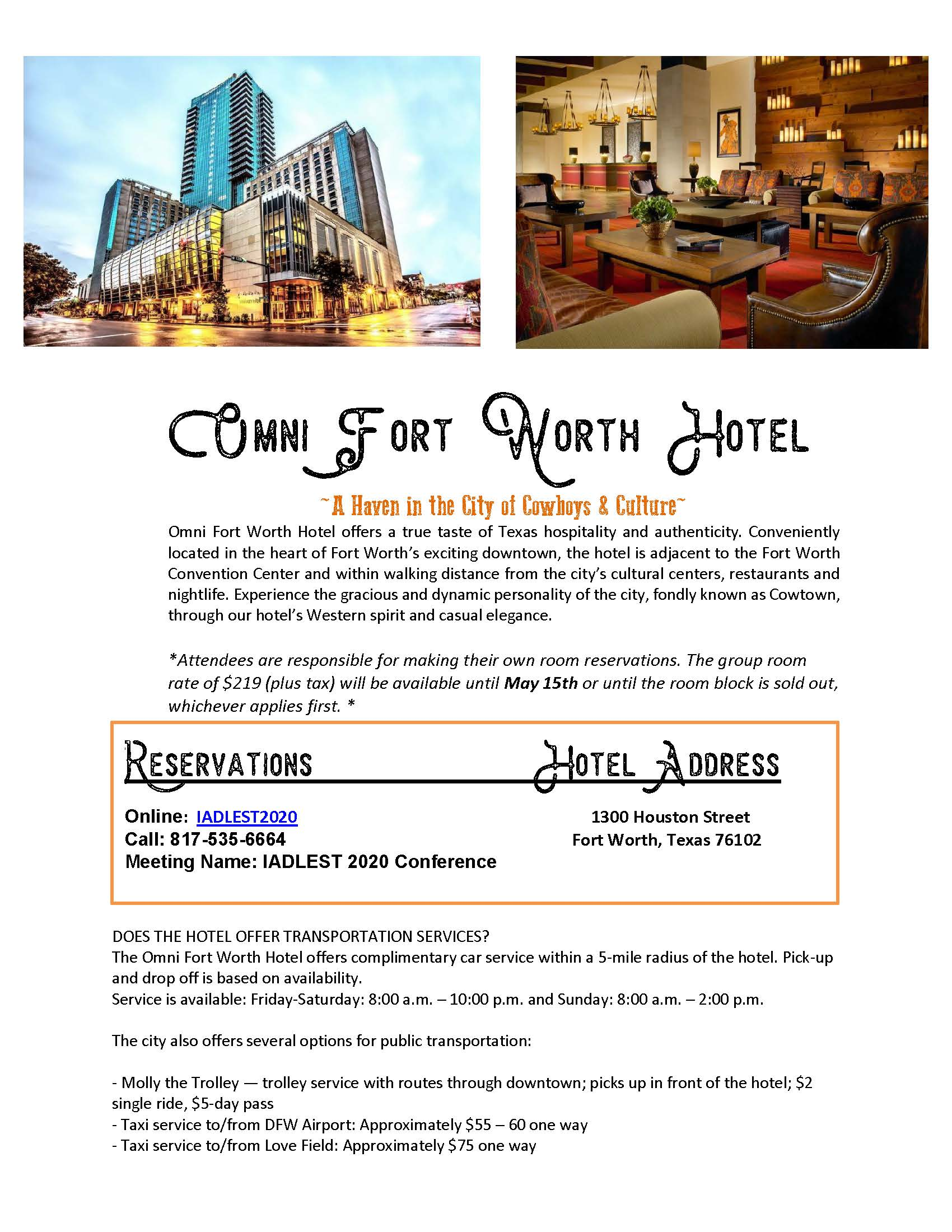 Lodging information Omni