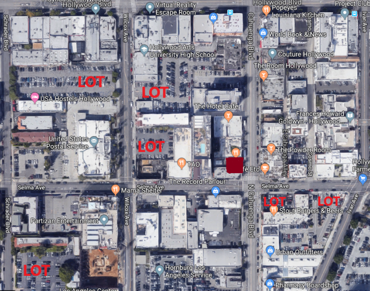 Parking Lots - Tao Group LA