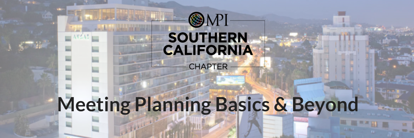 Meeting Planning Basics and Beyond - February 12, 2018