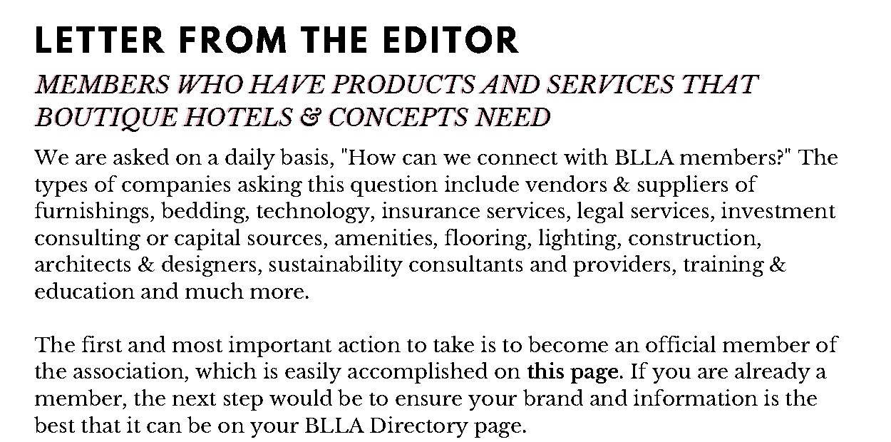 1 Letter From The Editor BW