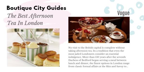 london tea Boutique City Guides BW