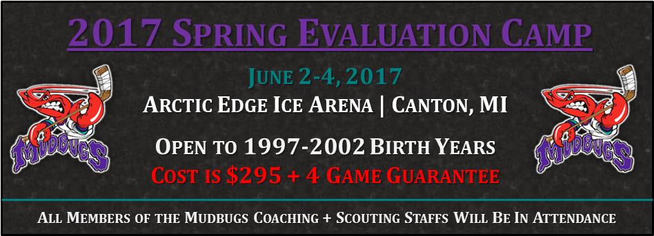 Shreveport Mudbugs Spring Evaluation Camp