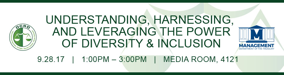 OCRD Understanding, Harnessing and Leveraging the Power of Diversity and Inclusion 09.28.17