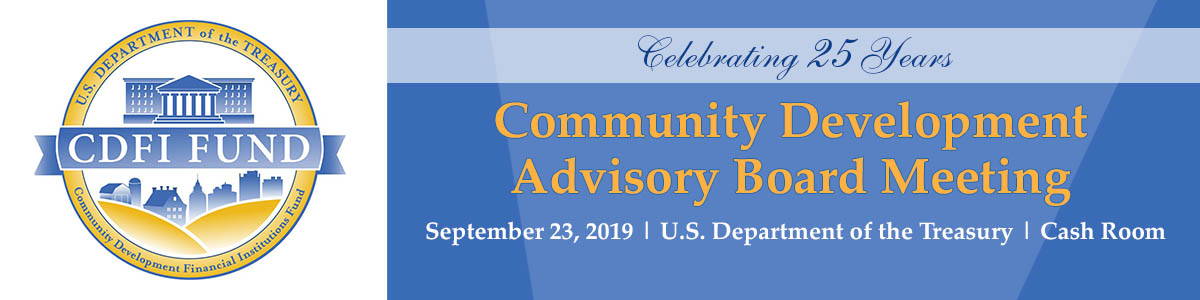 CDFI Advisory Board Meeting 09.23.19