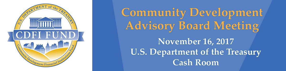 CDFI Advisory Board Meeting 11.16.17