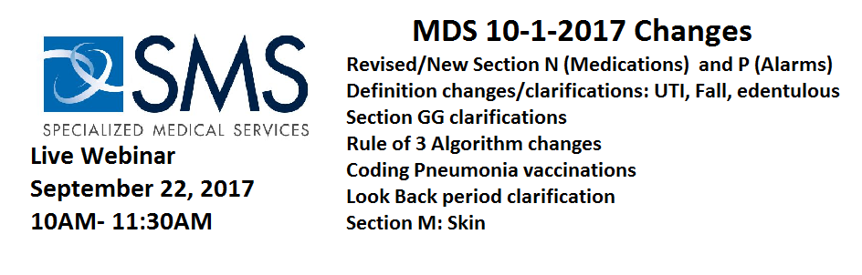 MDS Changes 10-1-2017
