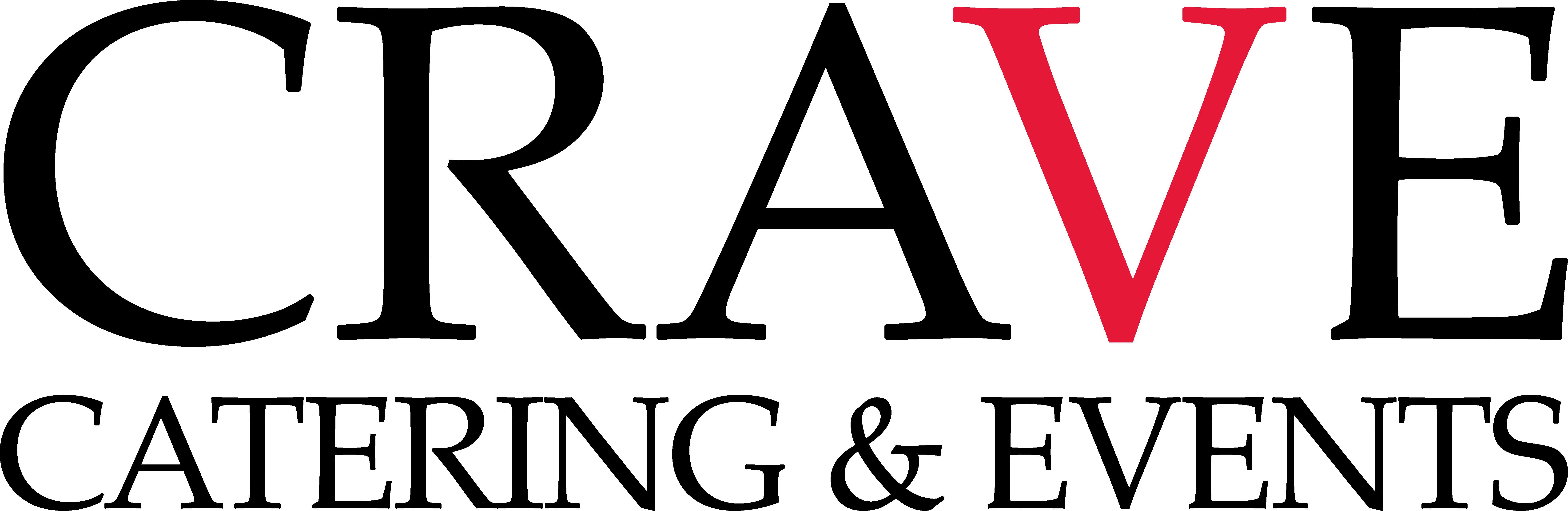 CRAVE_CateringEvents_Logo_Black_RedV_Transparent