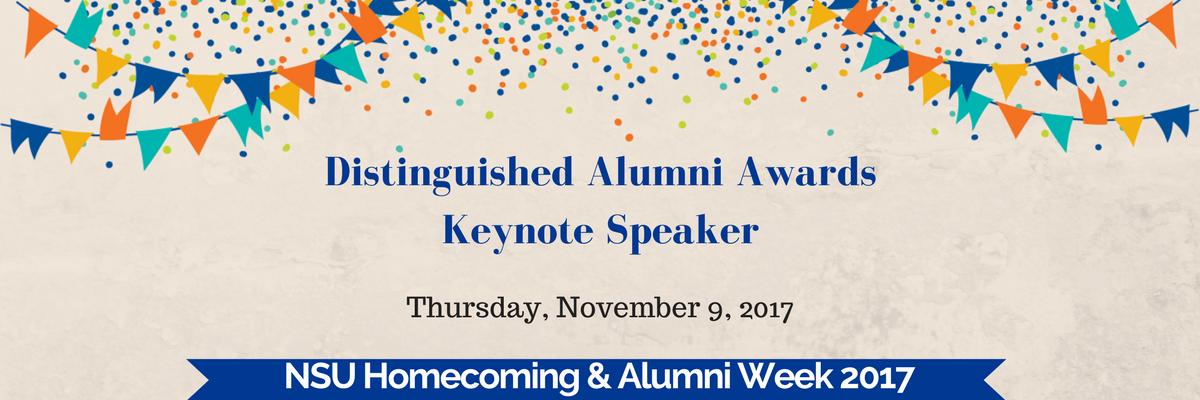 Distinguished Alumni Awards Keynote Speaker