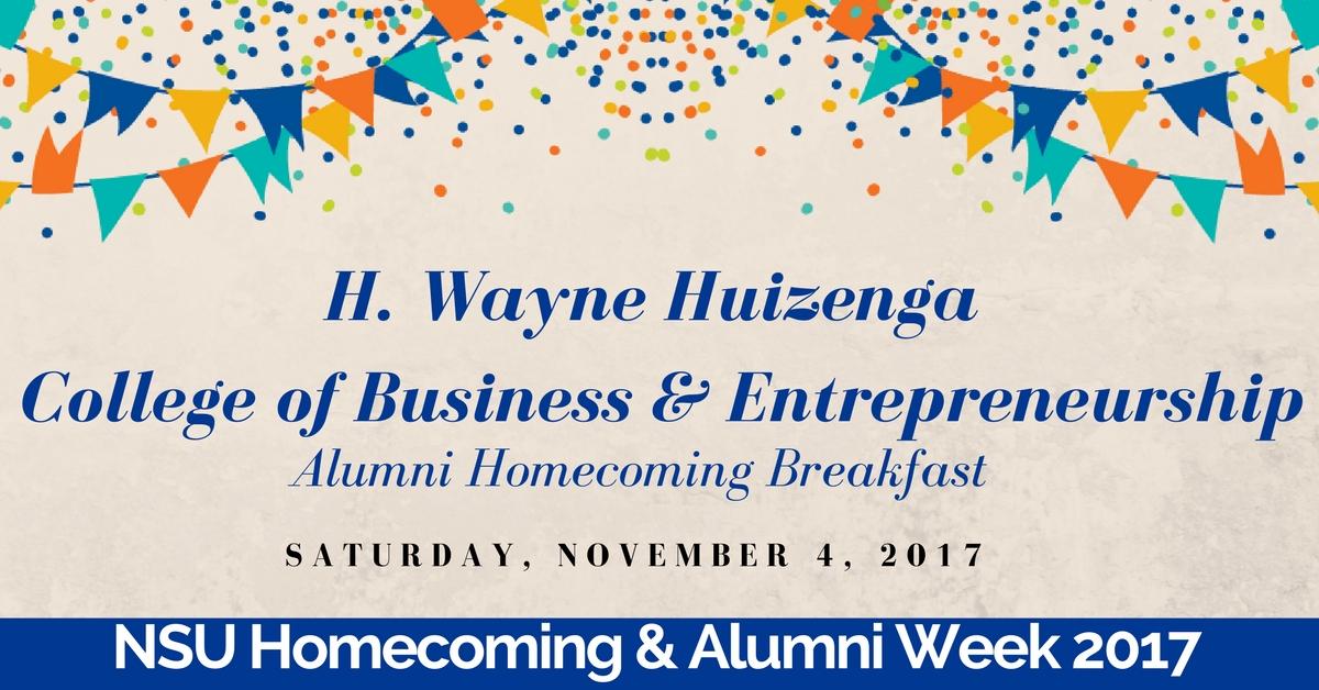 College Of business  Alumni Breakfast