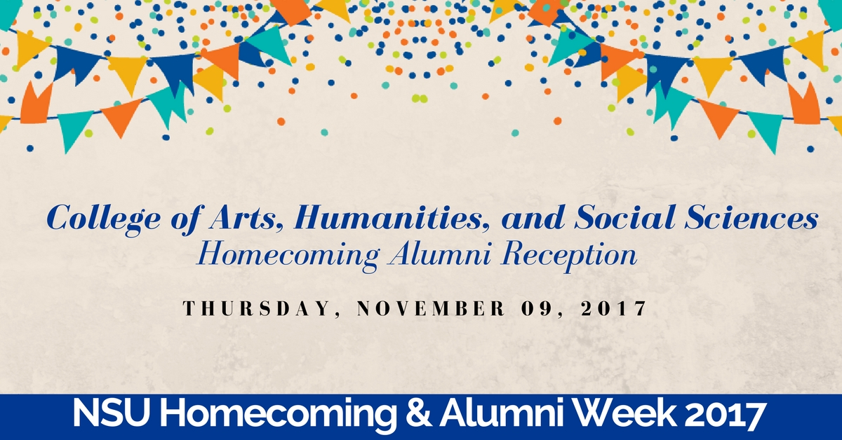 College of Arts, Humanities, and Social Sciences Homecoming Alumni Reception