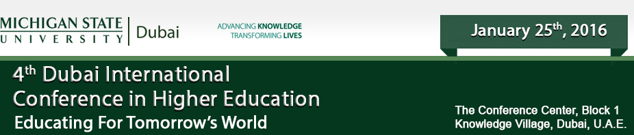 The 4th Dubai International Conference in Higher Education