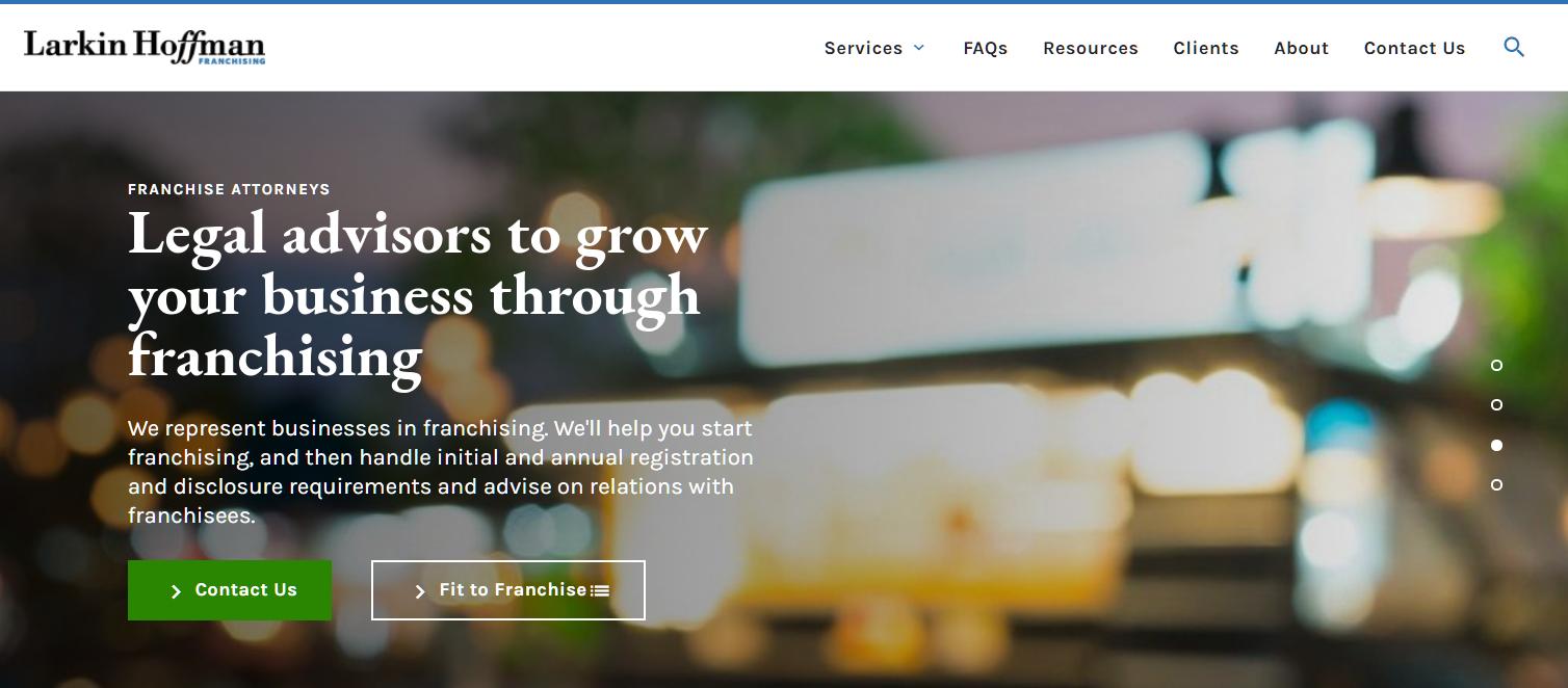 Franchise_website_screenshot