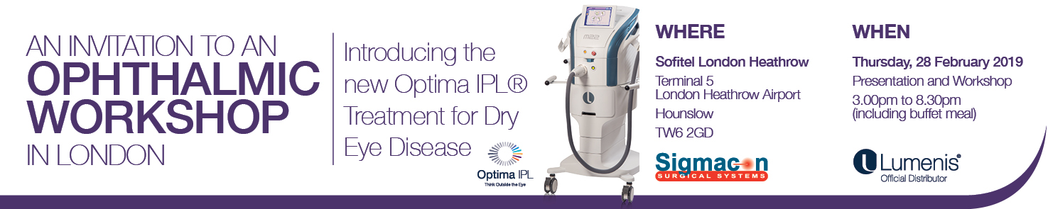 Introducing Optimal Pulsed Light Technology (OPT™)  for Dry Eye Disease from Lumenis