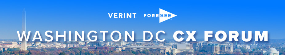 Verint ForeSee DC CX Forum