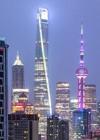 Shanghai tower at night 200