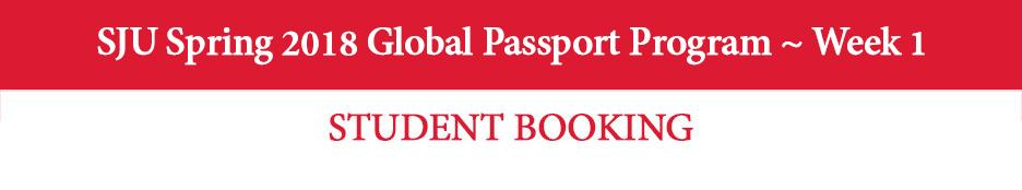 SJU Spring 2018 Global Passport Program to Paris ~ Week 1 50 Seats