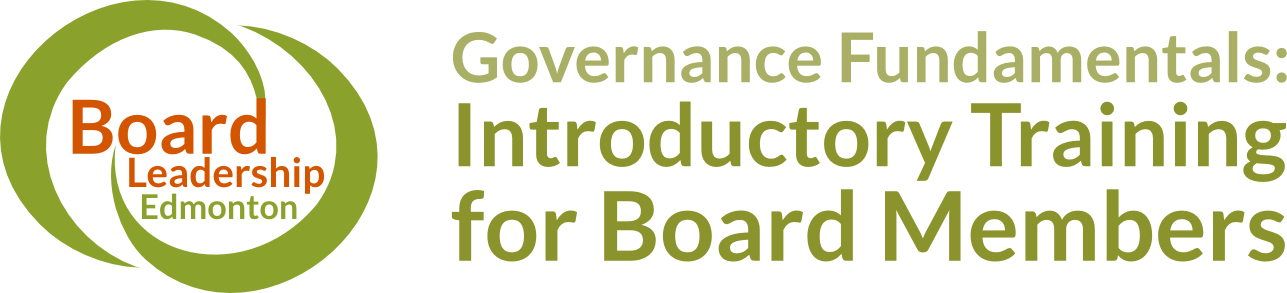Board Leadership 2016 - Governance Fundamentals: Introductory Training for Board Members