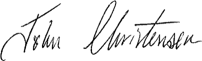 Christensen, John signature