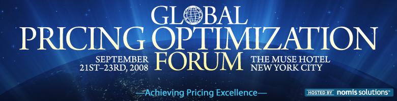 Global Pricing Optimization Forum